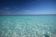 Cystal clear water of Bahamas