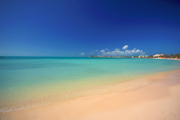 Empty beach in Turks & Caicos islands